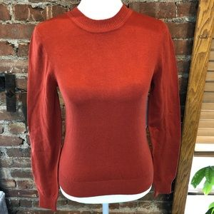 BP. skivvy ribbed Crew neck Pullover Burnt Red